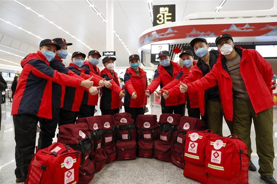 More medics leave for Hubei to aid novel coronavirus control efforts
