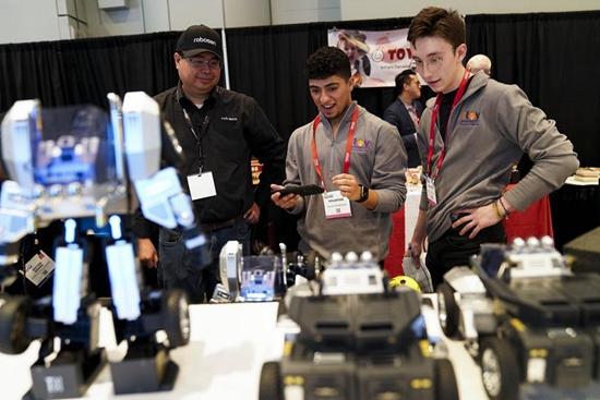 Chinese robotics company showcases innovative gadgets at NYC Toy Fair