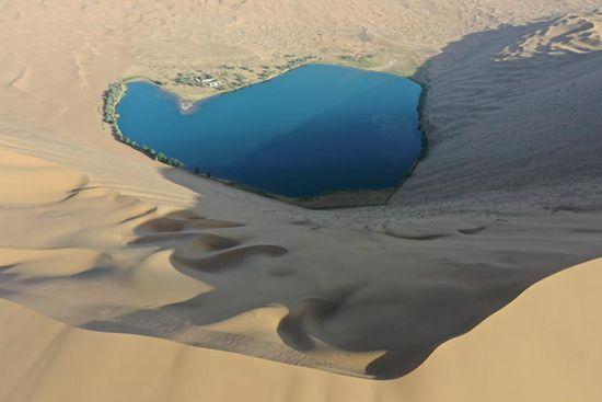 Lakes in Badain Jaran Desert, N China