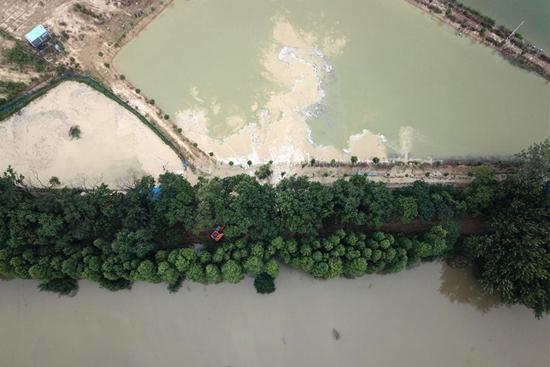 Flood storage area near Jiangkou River in Feixi County of Hefei put to use