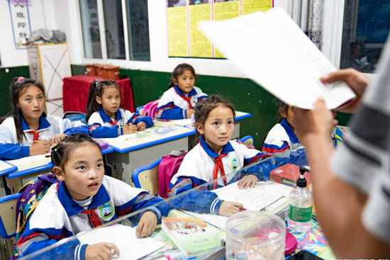 Pic story: free education in Tibet