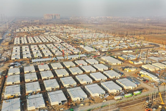 Main structures of COVID-19 quarantine center almost completed in Shijiazhuang