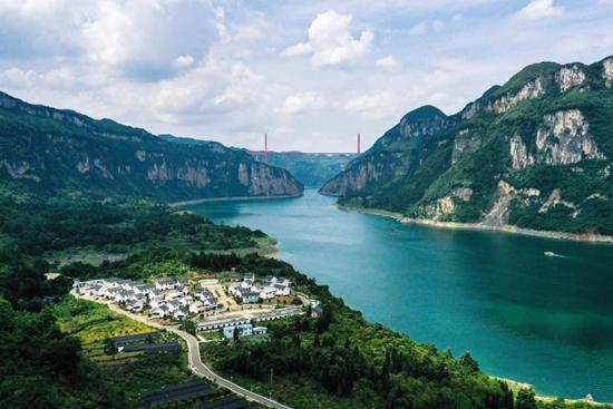 New look of Huawu Village in China's Guizhou