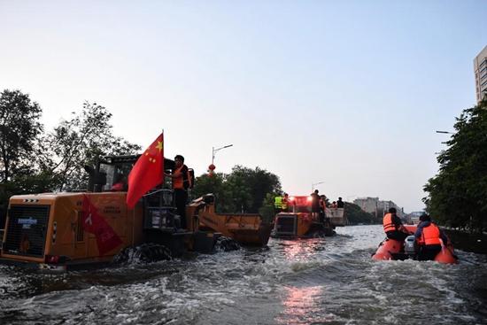 Rescue work underway in flood-hit Weihui, China's Henan