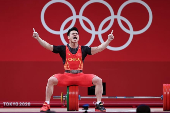 Chinese weightlifter Shi wins back-to-back Olympic gold