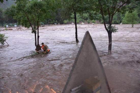 Heavy rains hit Beijing
