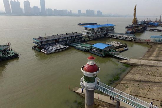 Water level at middle, lower reaches of Yangtze River continues to rise