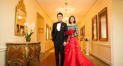 Vintage style wedding of Zhang Xinyi and Yuan Hong held in Germany