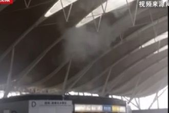 3 injured as blast caused by suspected explosive object rocks check-in area in Pudong airport