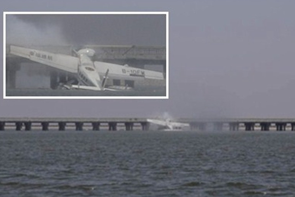 Casualties reported as seaplane crashes into bridge in Shanghai