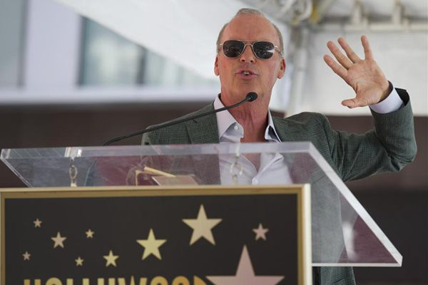 US actor Michael Keaton receives star on Hollywood Walk of Fame