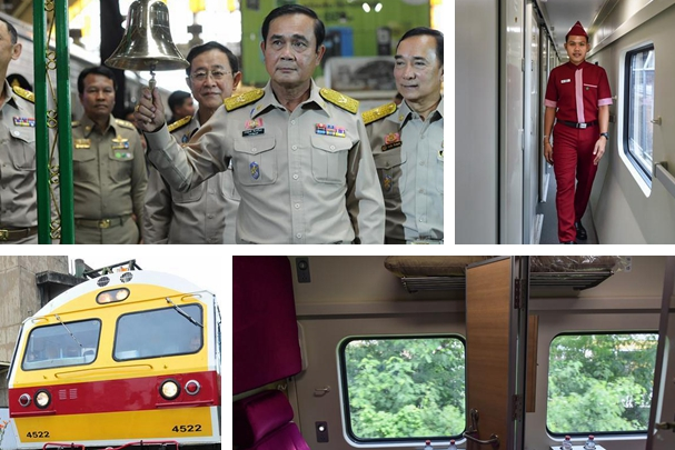 Chinese-made train makes debut in Thailand