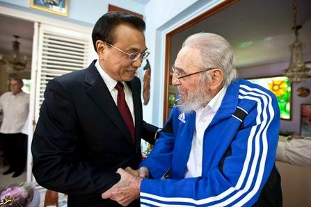 Premier Li visits Cuban revolutionary leader Fidel Castro