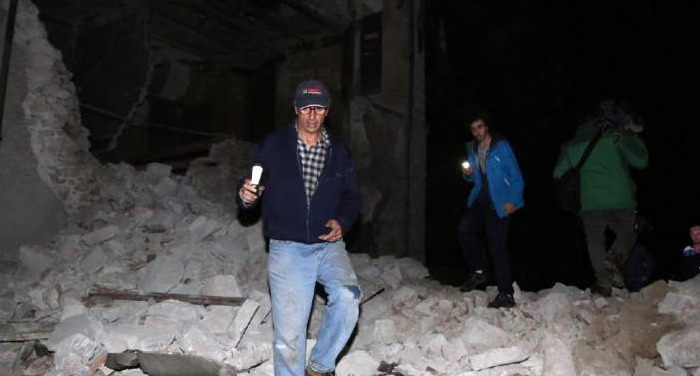 Strong earthquakes hit central Italy; no deaths reported