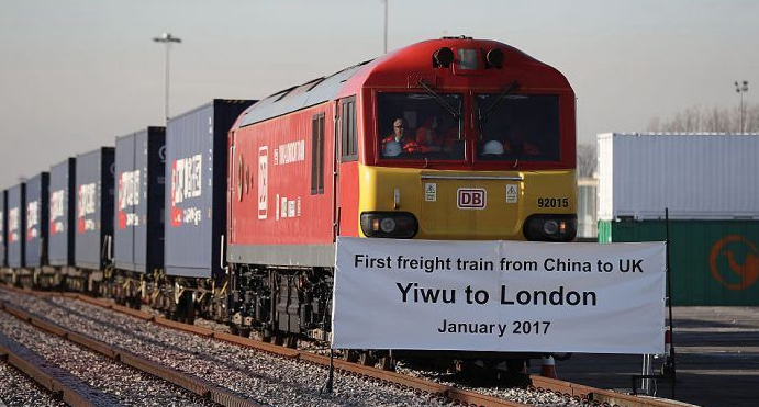 First direct freight train from China arrives in London after 18-day journey