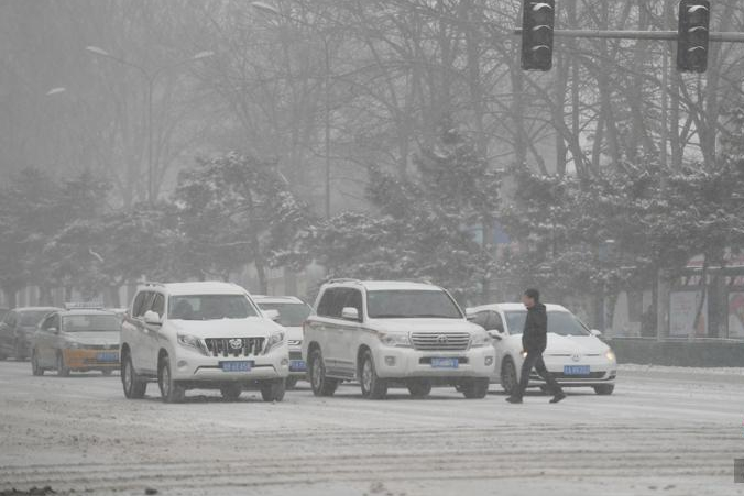 Heavy snowfall hits parts of Jilin, northeast China