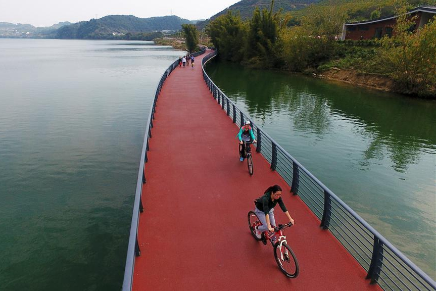 Bicycle lane of more than 30 kms constructed in S China's city