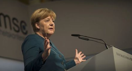 Merkel's conservative moves ahead of SPD in latest poll