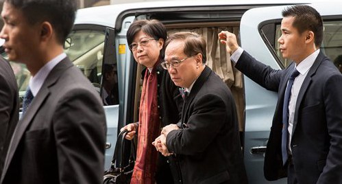 Former Hong Kong chief convicted