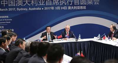China, Australia need to expand two-way open-up in services, investment: Chinese premier