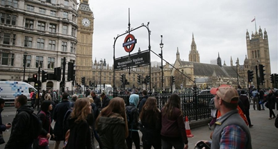 Man with knives arrested near British parliament on suspicion of