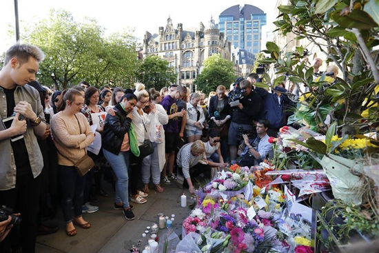 People mourn victims of Manchester terror attack