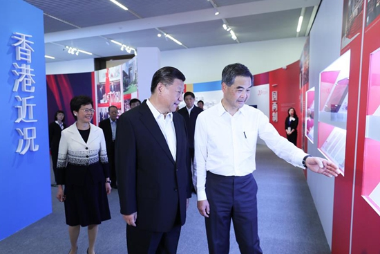 "Xi: ""One country, two systems"" the best arrangement for HK"