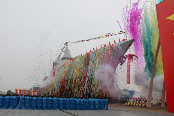 China's next-gen destroyer hits the water in Shanghai