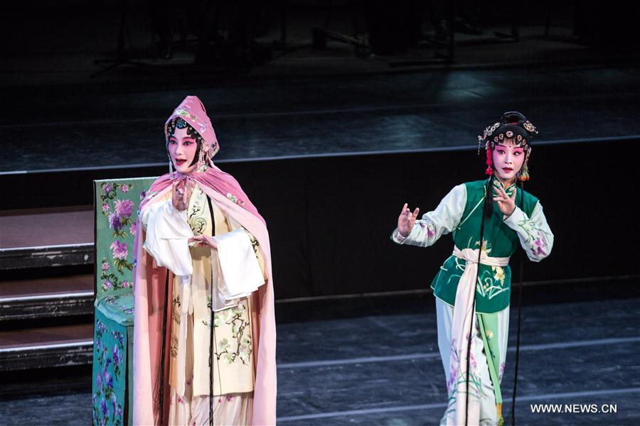 Artists from China's Suzhou Kunqu Opera Theatre perform