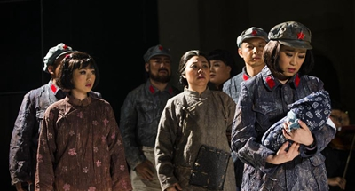 Chinese artists perform opera The Long March in Forli, Italy