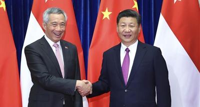 Xi meets Singaporean PM on bilateral ties