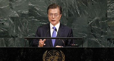 S Korea president calls for caution dealing with Korean Peninsula issue
