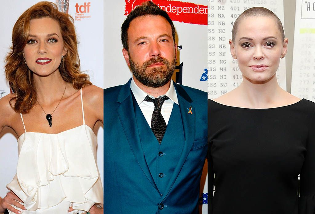 Hilarie Burton, Ben Affleck, and Rose McGowan. (Photos: Getty Images)