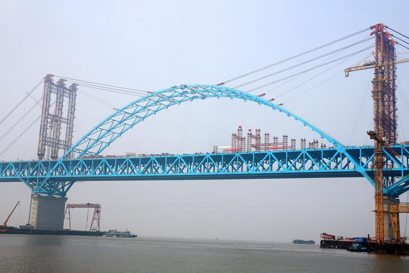 One core arch of Hutong Yangtze bridge connected