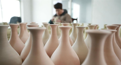 Workshop of Ru porcelain manufacturer in China's Henan