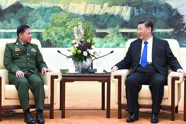 Xi meets visiting Myanmar army chief