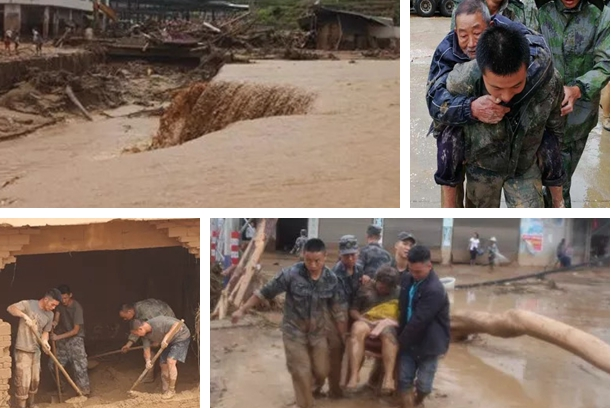 Rescue continues in flood-hit Chinese town, 15 still missing