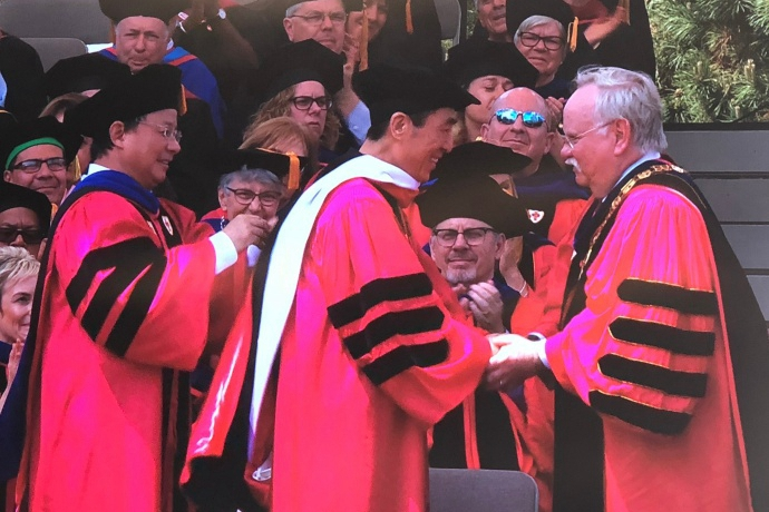 Chinese director Zhang Yimou receives Boston University honorary degree