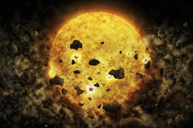 Nearby star speculated to be eating a planet