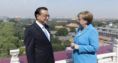 China, Germany seek stronger cooperation as Merkel visits