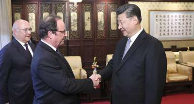 Xi says he has full confidence in China-France ties