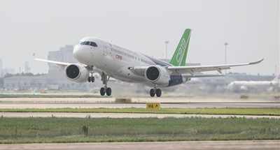 China's second C919 prototype jet conducts first long-distance flight