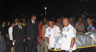 Body of Phuket boat accident victim trapped under water retrieved