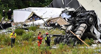 Provisional death toll in Italy's Genoa bridge collapse rises to 26