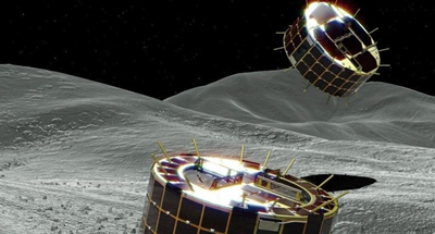 Japanese probe drops off robots on asteroid's surface