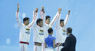 Sun Yang helps China rewrite Asian record in relay