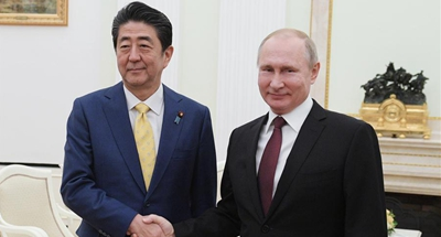 Putin, Abe make no breakthrough in peace treaty talks