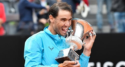 Nadal notches 9th Rome title