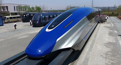 China unveils 600 kph maglev train prototype