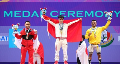 China wins all six golds on 2nd day of weightlifting worlds